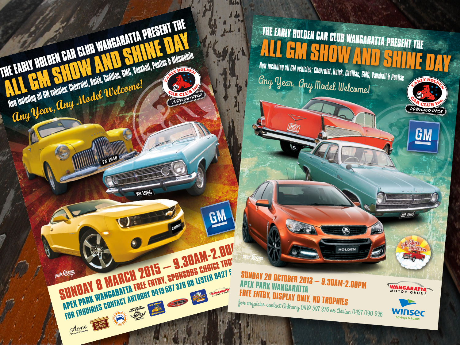 Early Holden Car Club Event Posters
