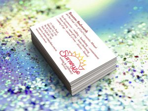 Sunwyse Writing & Celebrancy Serviced Business Cards