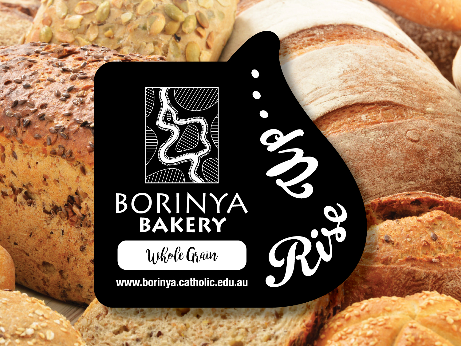 Borinya Bakery Bread Labels – Purple Possum Design – Graphic Design Wangaratta