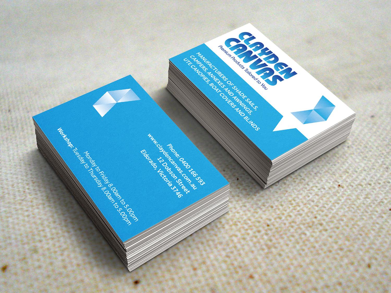 Clayden Canvas Business Cards – Purple Possum Design – Graphic Design Wangaratta