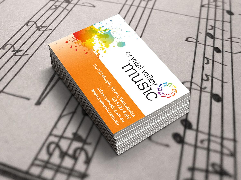CV Music Business Cards – Purple Possum Design – Graphic Design Wangaratta