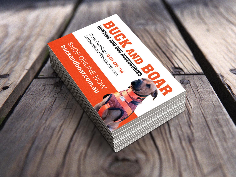 Buck and Boar Business Cards – Purple Possum Design – Graphic Design Wangaratta