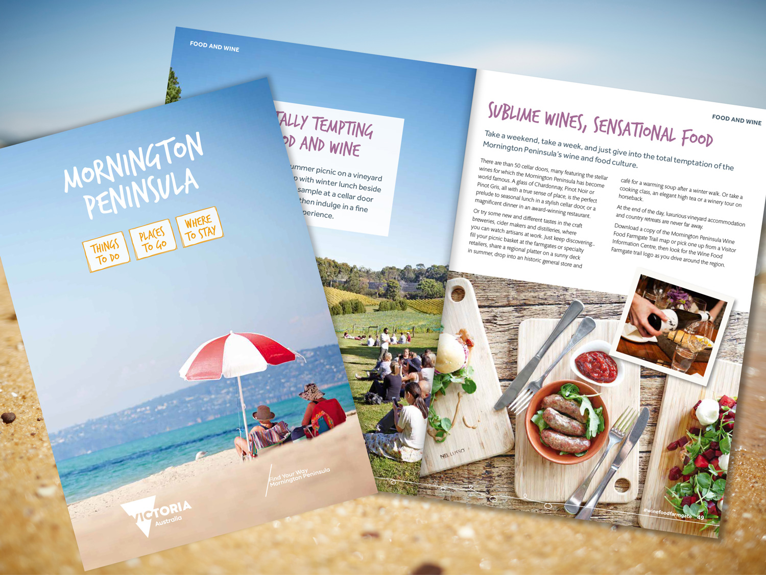 Mornington Peninsula Official Visitors Guide 2016 – Purple Possum Design – Graphic Design Wangaratta