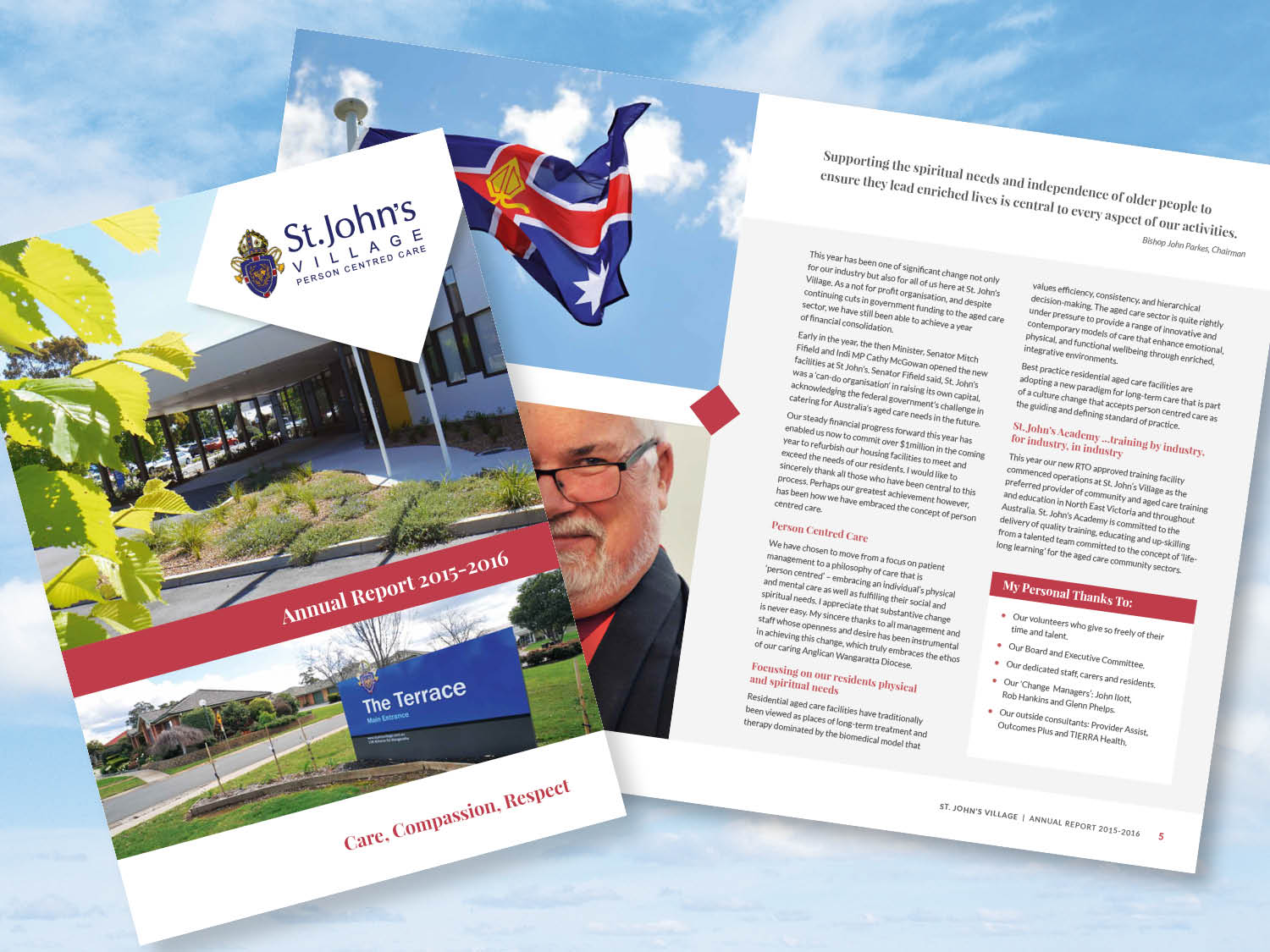 St. John's Village – Annual Report 2016 – Purple Possum Design – Graphic Design Wangaratta