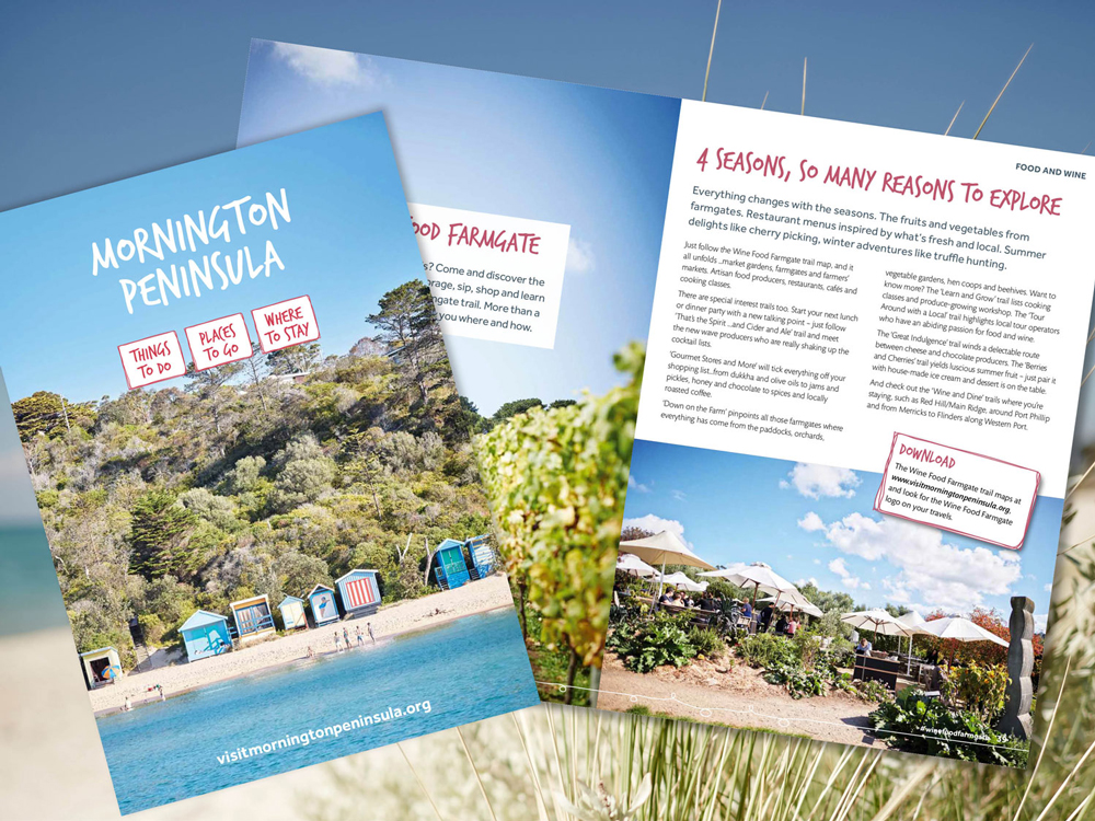 Mornington Peninsula Official Visitors Guide 2017 – Purple Possum Design – Graphic Design Wangaratta