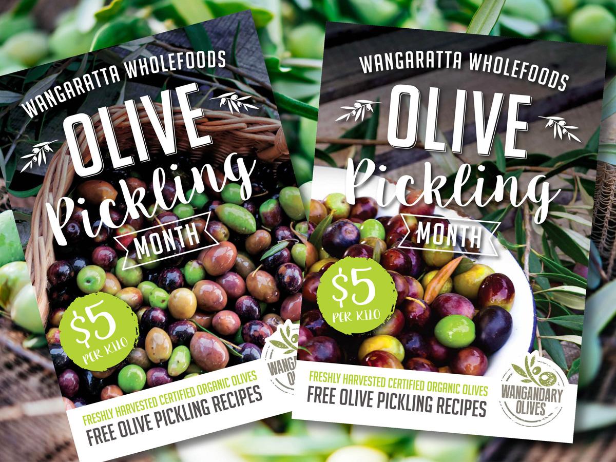 Wangandary Olives Posters – Purple Possum Design – Graphic Design Wangaratta