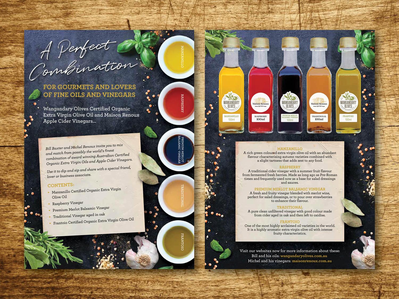 Wangandary Olives & Maison Renoux – Purple Possum Design – Graphic Design Wangaratta