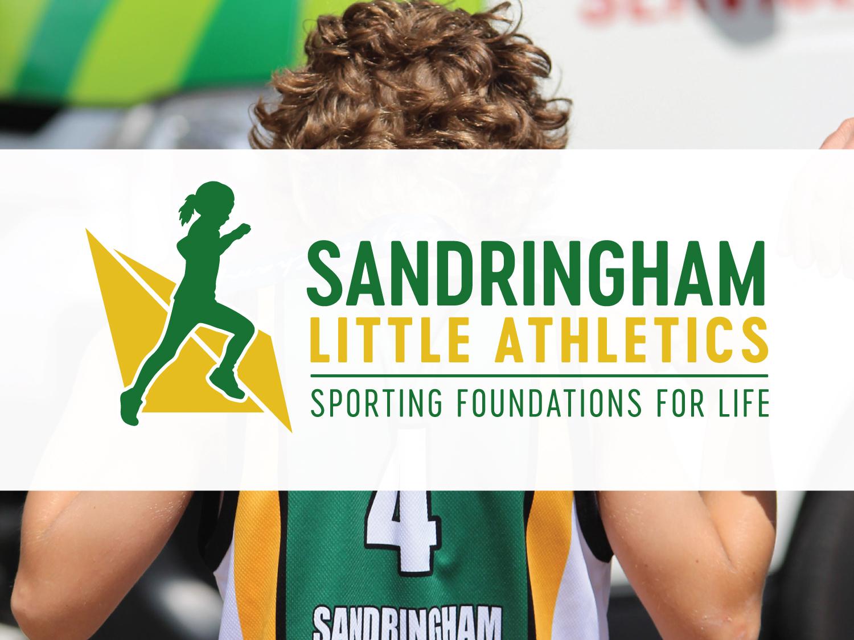 Sandringham Little Athletics Logo – Graphic Design Wangaratta – Purple Possum Design
