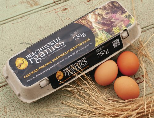 Beechworth Organics Egg Carton Label