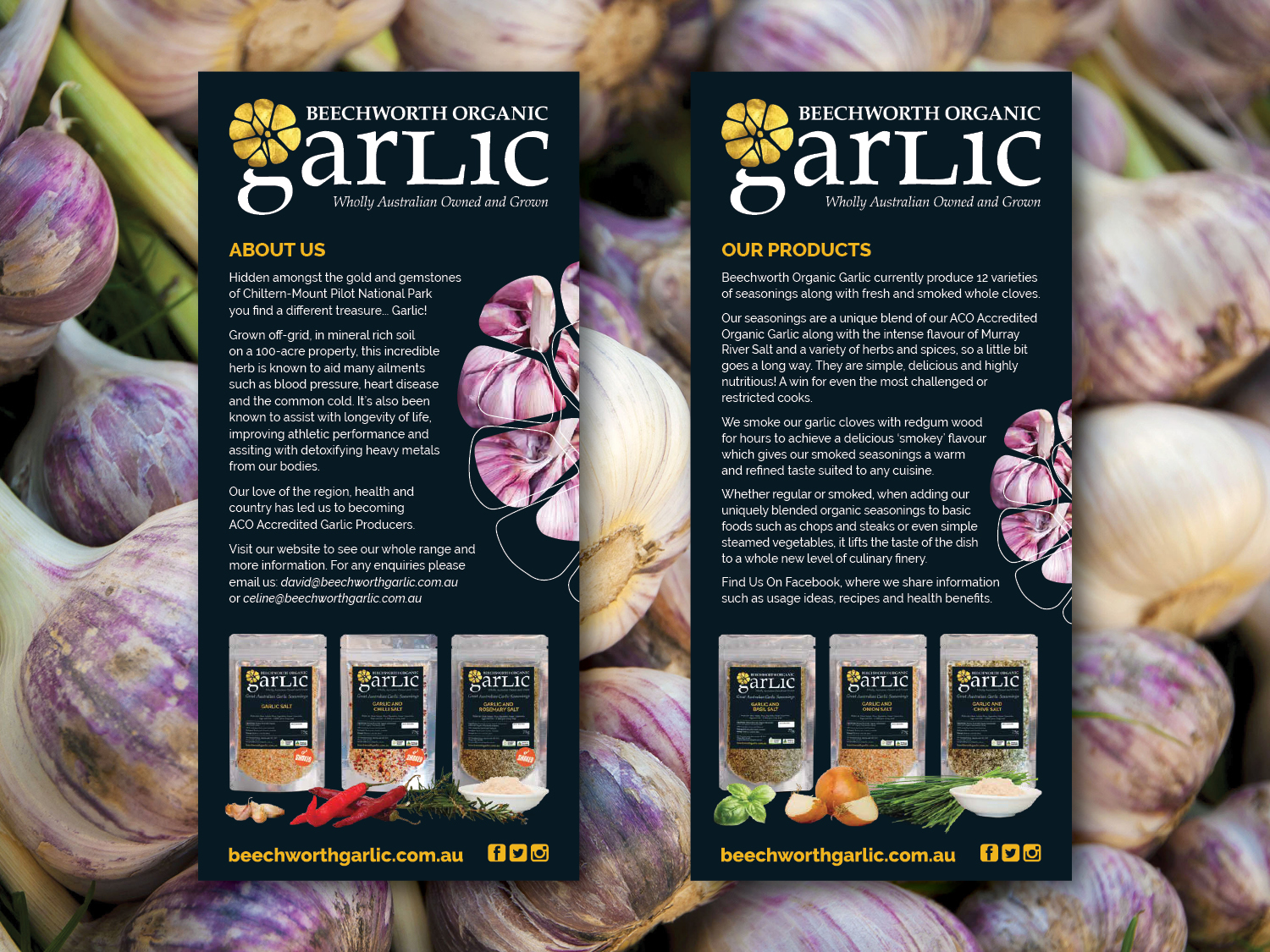 Purple Possum Design – Graphic Design Wangaratta – Beechworth Garlic Labels