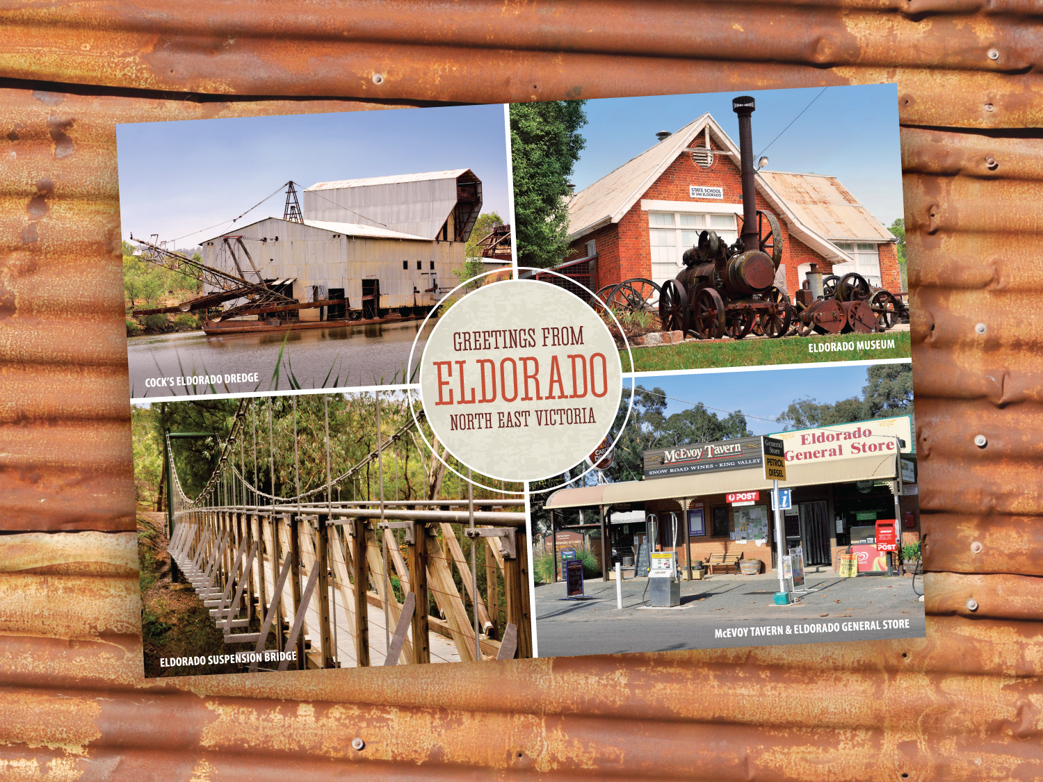 Eldorado Postcard – Purple Possum Design – Graphic Design Wangaratta