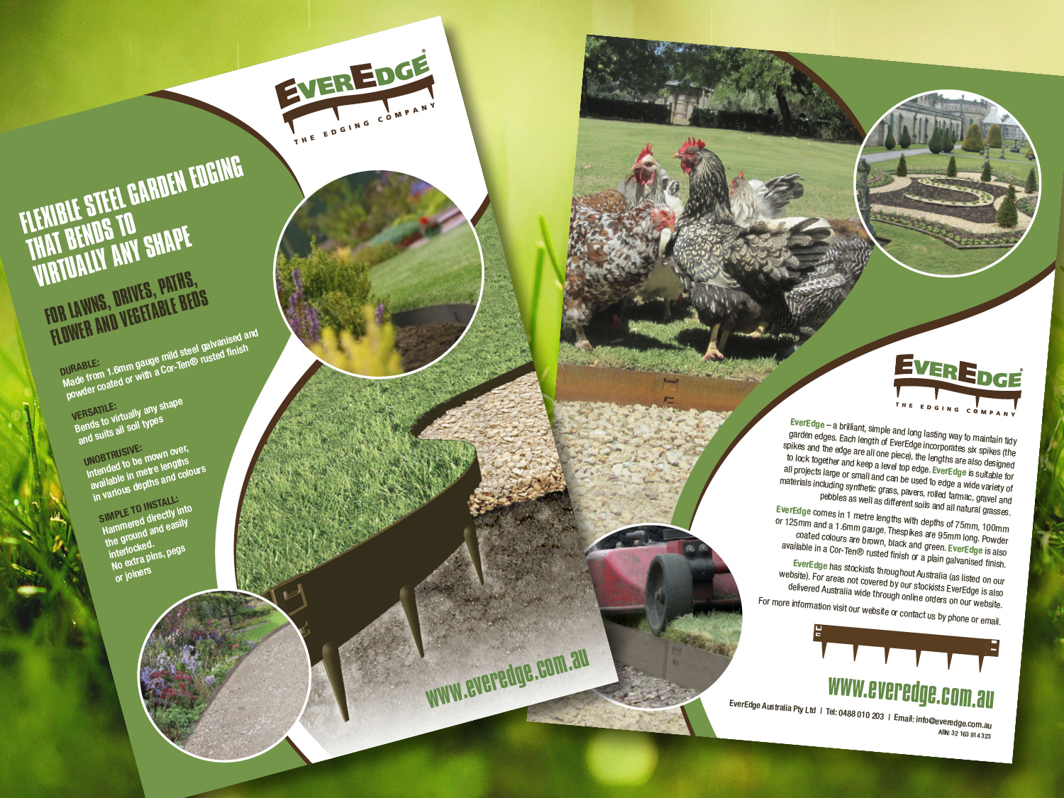 EverEdge A4 Flyer – Purple Possum Design – Graphic Design Wangaratta
