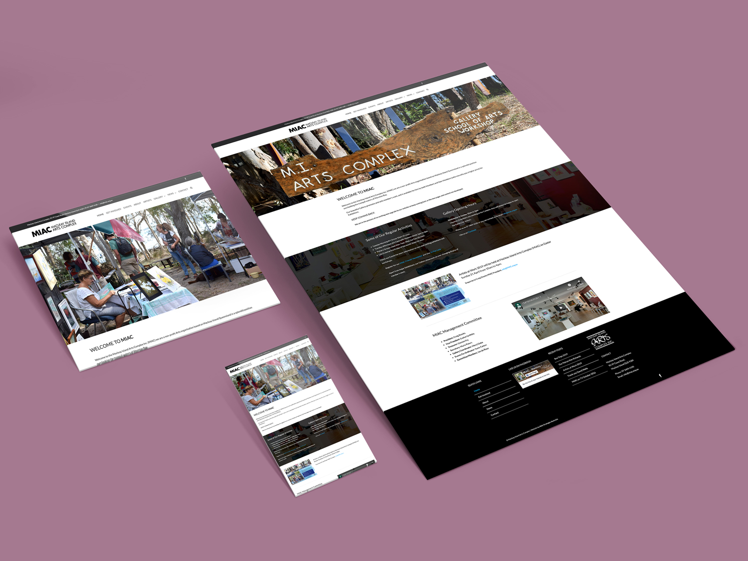 Purple Possum Design – Web Design Wangaratta – Macleay Island Arts Centre