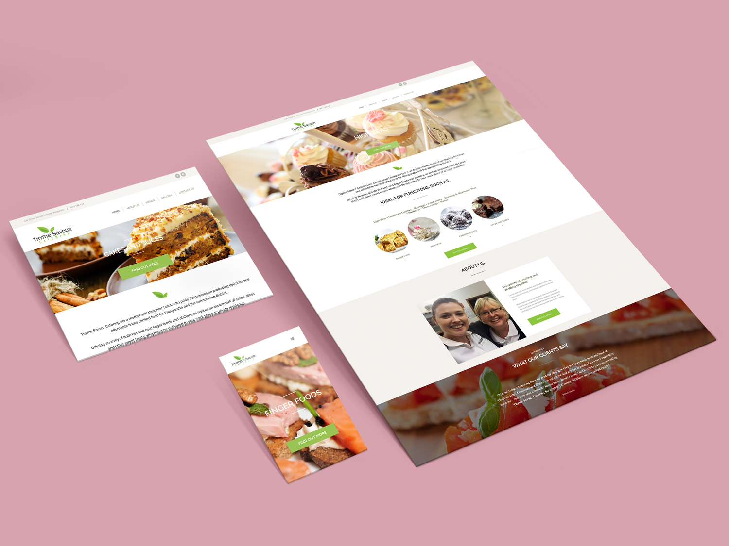 Purple Possum Design – Web Design Wangaratta – Thyme Savour catering
