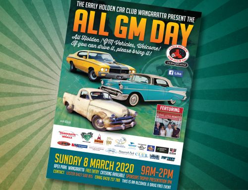Early Holden Car Club Wangaratta – All GM Day Posters